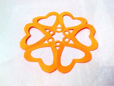 How to make a kirigami paper snowflake - 3 | Kirigami. Paper Cutting Craft, Videos and Tutorials.