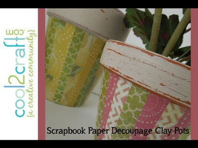 How to Make a Paper Decoupage Clay Pot by Tiffany Windsor - DIY Craft