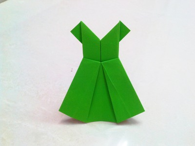 How to make an origami paper dress | Origami. Paper Folding Craft, Videos and Tutorials.