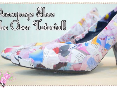 How To Make Decoupage Magazine Shoes - Craft Tutorial - Violet LeBeaux