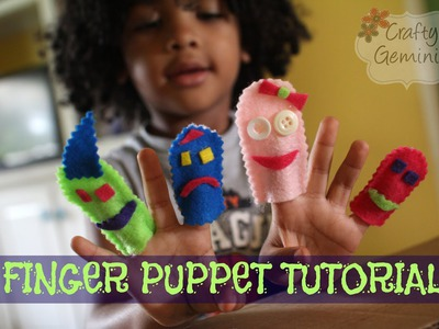 How to Make Finger Puppets- NO SEW DIY Tutorial for Kids