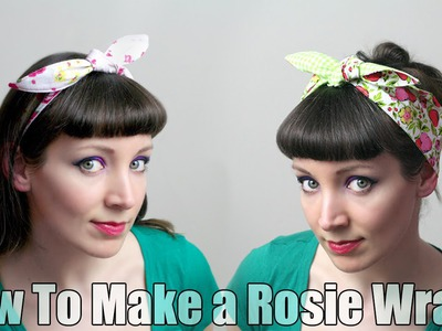 How To Sew a Rosie Wrap Hair Band - DiY Fashion Tutorial