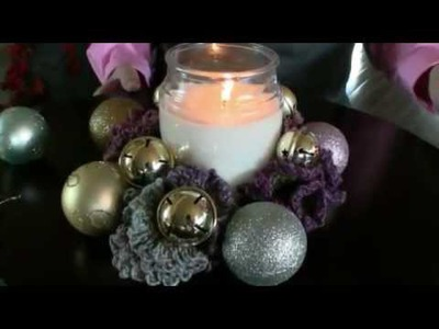 Howto Crochet Candle Base Wreath