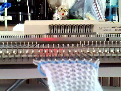 Joining A Shoulder Seam On The Knitting Machine (part 1)