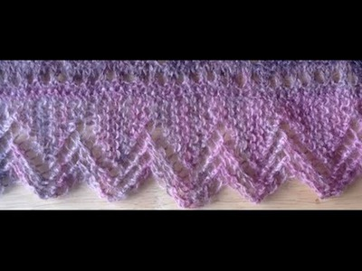 Knit Lace Edging Tutorial Video (part 1 and 2) - Lace Knitting Instruction