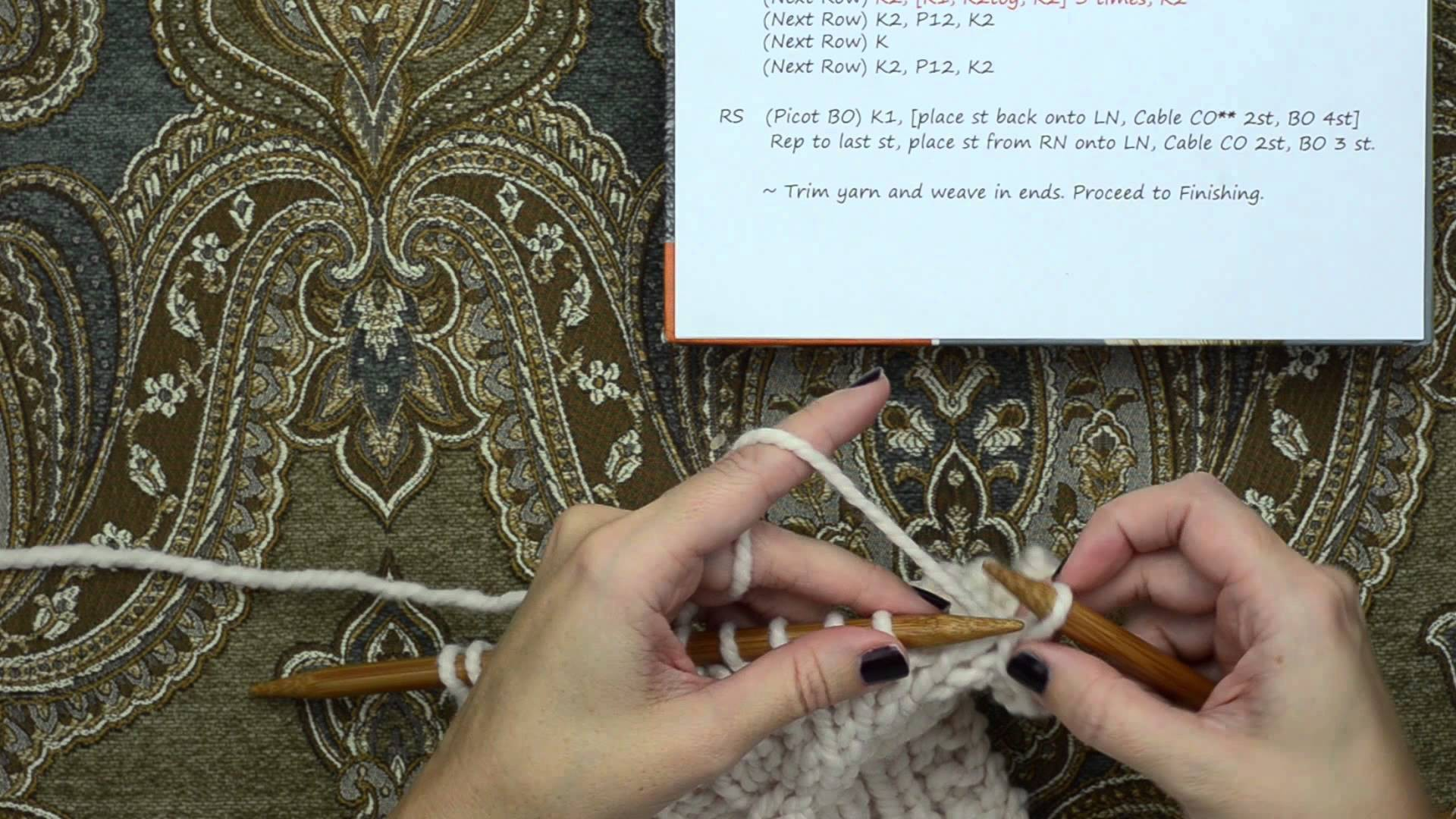 Knit Picot Edge Bind Off