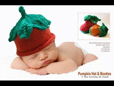 KNIT THIS CUTE BABY HAT WITH DECORATIVE LACE LEAVES TO THE CROWN - Knitting Pattern Tutorial Part 1