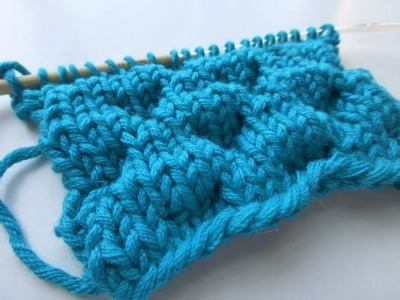 """Knit with eliZZZa * Knitting Stitch """"Bubbles"""""""