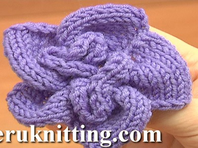 Knitted Spiral Flower Knitting Tutorial 1 Learn How to Knit Flowers
