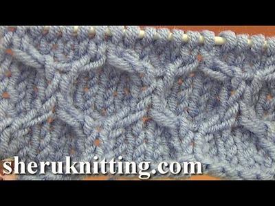 Knitting Honeycomb Cable Stitch Pattern Tutorial 14 Stitch Pattern Library