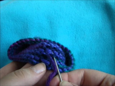 Knitting in the Round Straight: Drawstring Bag