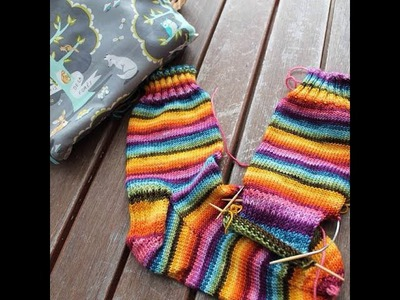 Knitting Socks on Mini Circular Needles
