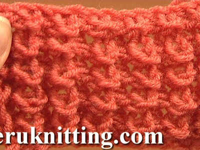 Knot Stitch Pattern Knitting Tutorial 1 Easy to Knit Stitch Pattern