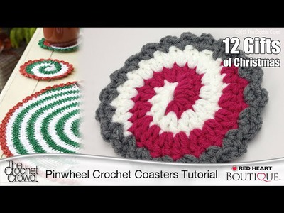 Learn to Crochet Christmas Coasters
