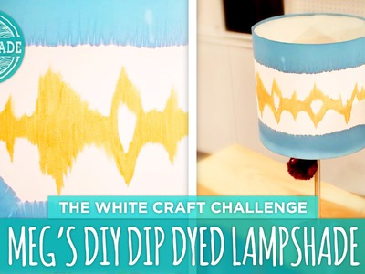 Meg's DIY Dip Dyed Lamp - HGTV Handmade White Craft Challenge