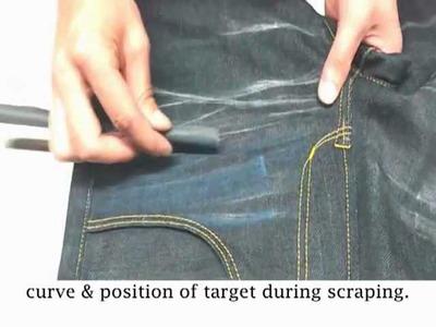 NI-MES DENIMing: 8216 Style Jeans - Whisker & Handsand DIY Tutorial
