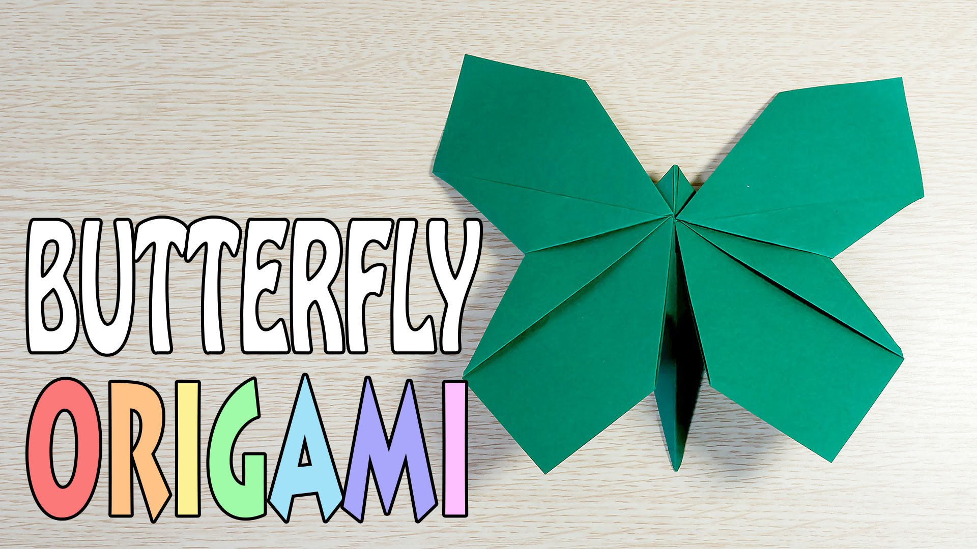 Origami Butterfly : A4 Paper DIY Tutorial