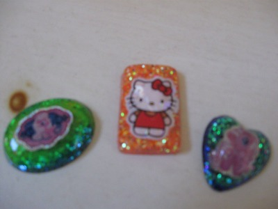 Resin Glitter Sticker Charms Craft Tutorial
