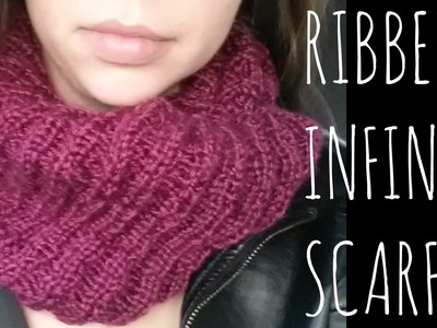 Ribbed Infinity | Easy Knit Pattern | Scarf Tutorial