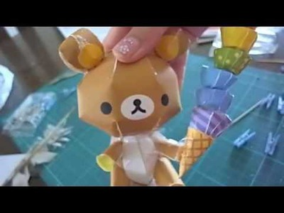 Rilakkuma paper craft tutorial