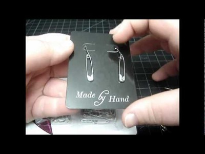 ► Safety Pin Earrings - Craft Tutorial.Suggestion