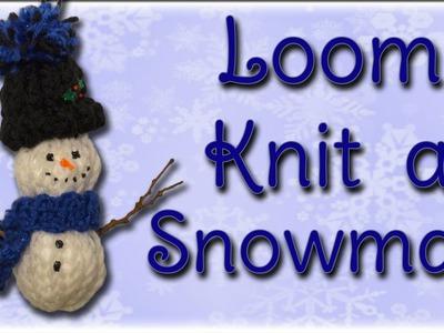 Snowman Christmas Ornament - Loom Knitting