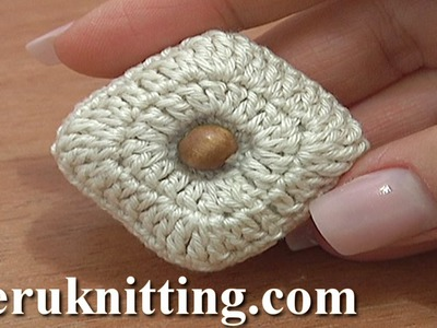 Stuffed Square Button Crochet Tutorial 3 Part 1 of 2 Crochet Increase Stitches