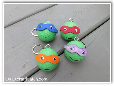 Teenage Mutant Ninja Turtles Backpack Charm Recycle Golf Ball Craft DIY