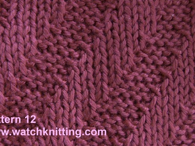 (Tilt stripes) - simple Patterns - Free Knitting Patterns Tutorial - Watch Knitting - pattern 10