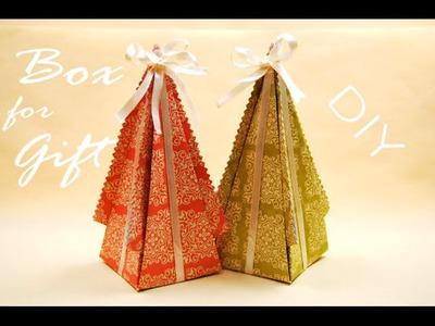 Треугольная Коробочка своими руками.  Origami Gift Box DIY. Origami Tutorial. ✿ NataliDoma