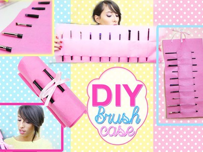 Tutorial DIY MAKEUP Brush Organizer - Room Decor DIY Travel Case - Easy Crafts Ideas