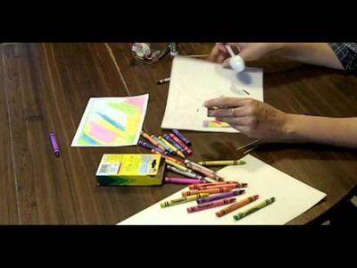 TUTORIAL - FUN CRAFTS 4 KIDS - sgraffito crayon art -jewelry, name tags, bookmarkers