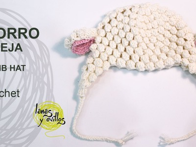 Tutorial Gorro Bebé Crochet o Ganchillo Oveja