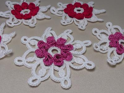 УРОК ВЯЗАНИЯ крючком. Цветы вязаные.Ирландское кружево.Crochet flower.