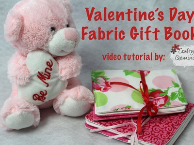 Valentine's Day Fabric Gift Book & Slice Giveaway- DIY Tutorial