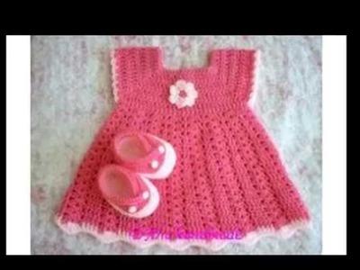 Vestidos de bebés a crochet