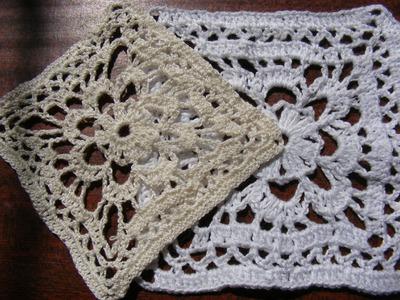 Вязание крючком  Ажурный квадрат. Оpenwork crochet square