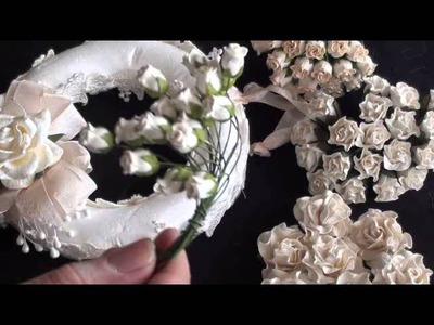Wild Orchid Crafts - Flower Wreath Tutorial