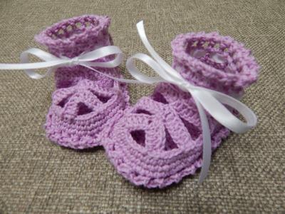 Zapatitos para Niña Crochet