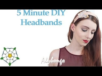 5 Minute DIY Spring.Summer Headbands | Alybongo