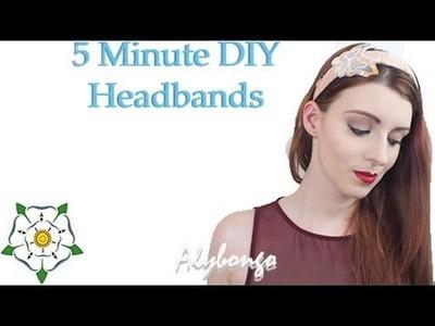 5 Minute DIY Spring.Summer Headbands | Alybongo