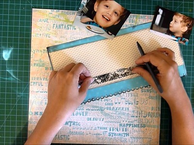 August 2012 YTLH© Freestyle Funcake Scrapbook layout process