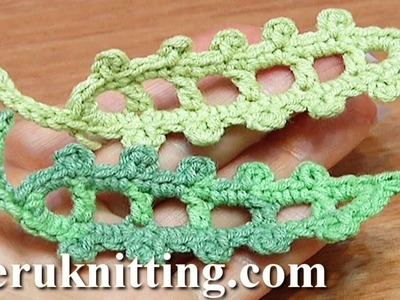 Crochet Leaf Long Picots Around Tutorial 23