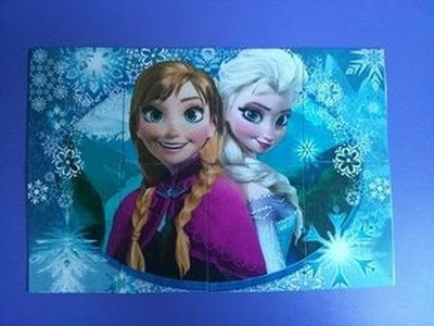 D.I.Y frozen puzzle- Tutorial. Party idea