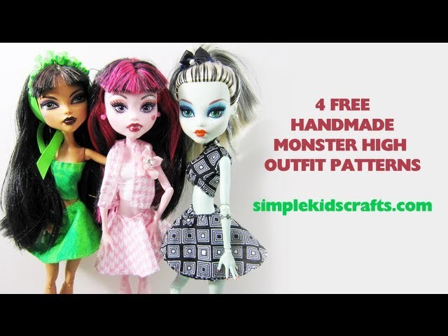 Design clothing for your Monster High Doll - Doll Crafts