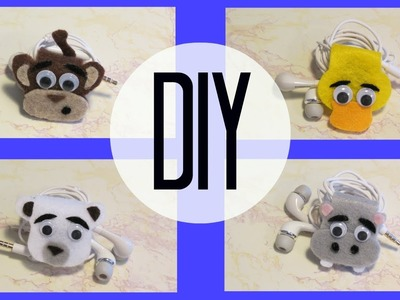 DIY: Animal Earphone Holder (Monkey)