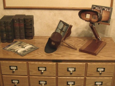 DIY - Antique Stereo 3D View Card Storage Cabinet