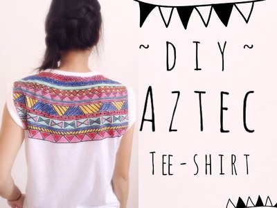DIY Aztec Print Tee Shirt Paint | craftyourfashion