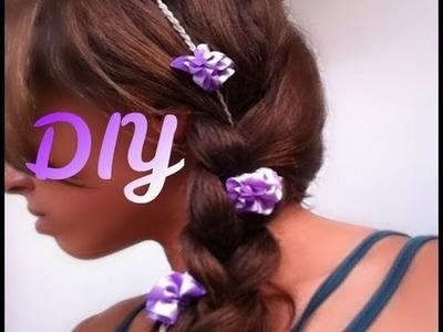 DIY Braided Flower Clip- HowToByJordan -HowToByJordan