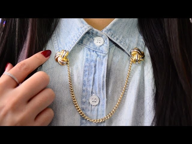 ✂ DIY Chain Collar Pin
